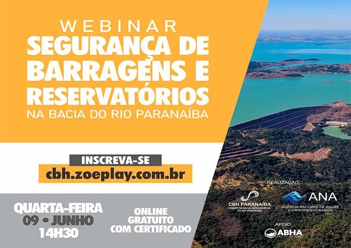 Segurança de Barragens é tema de webinar promovido pelo Comitê do Rio Paranaíba